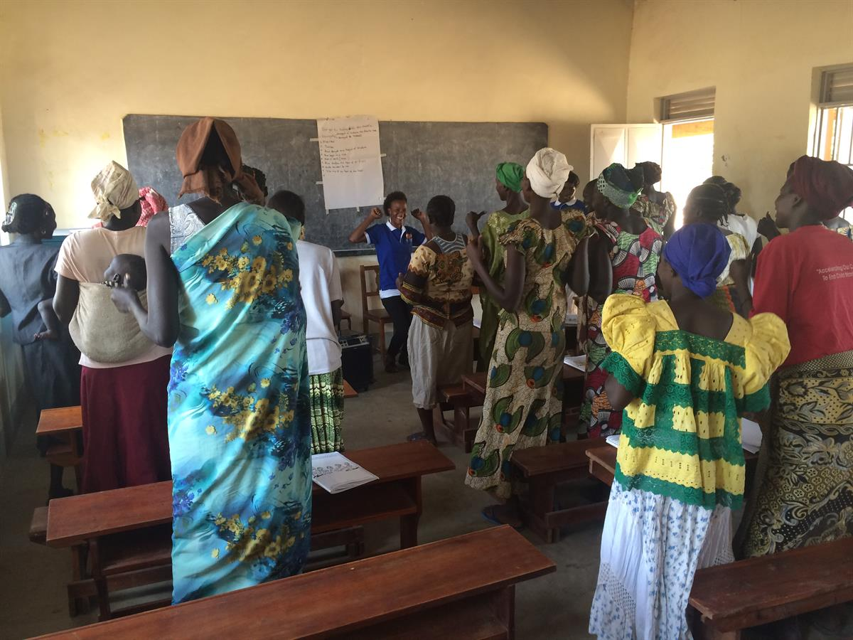 Group of women in a classroom
