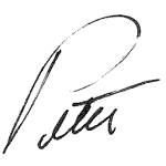 Peter Navario Signature