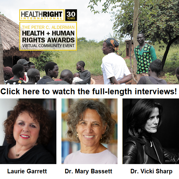 Click here to watch the full-length interviews with Laurie Garrett, Dr. Mary Bassett and Dr. Vicki Sharp